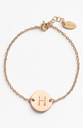 Women's Nashelle 14K Gold Fill Initial Disc Bracelet 14K Gold Fill H