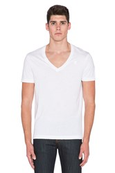 G Star 2 Pack V Neck Tees White