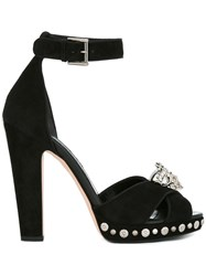 Alexander Mcqueen King Skull Sandals Black
