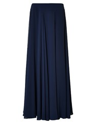 Jacques Vert Maxi Layered Chiffon Skirt Navy