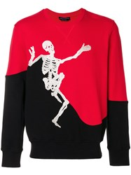 Alexander Mcqueen Dancing Skeleton Sweatshirt Black