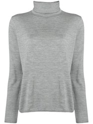 Aspesi Fine Knit Turtleneck Sweater Grey
