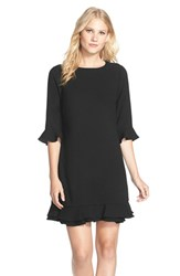 Women's Cece By Cynthia Steffe 'Kate' Ruffle Hem Shift Dress Black