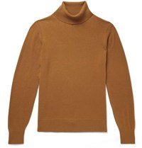 Todd Snyder Slim Fit Cashmere Rollneck Sweater Camel