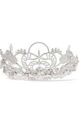Paco Rabanne Silver Tone Crystal Tiara One Size