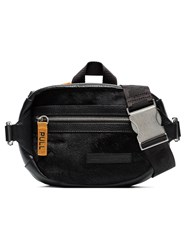 Heron Preston Black Ponyskin Leather Belt Bag