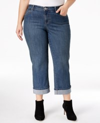 Styleandco. Style Co. Plus Size Tummy Control Curvy Fit Cuffed Capri Jeans Only At Macy's Oxford