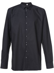 Label Under Construction Buttoned Slim Fit Shirt Black