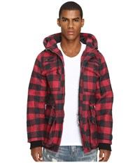 Mostly Heard Rarely Seen Plaid Field Coat Red Plaid