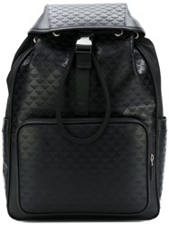 Emporio Armani All Over Logo Backpack Black
