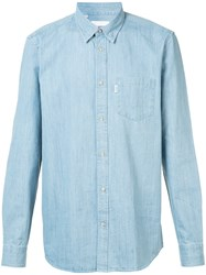 Wesc Oke Shirt Men Cotton L Blue