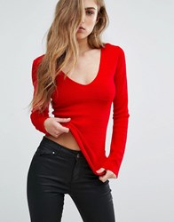 Supertrash Tasai Bodycon Top Obsession Red