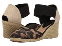 Lauren Ralph Lauren Charla Leopard Black Women's Wedge Shoes