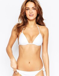 South Beach Mix And Match Moulded Triangle Bikini Top White