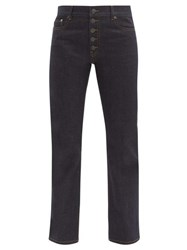 Joseph Den Straight Leg Stretch Denim Jeans Dark Blue