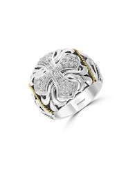 Effy Final Call Diamond And Sterling Silver Maltese Cross Ring