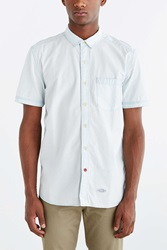 Cpo Hollis Washed Short Sleeve Button Down Shirt Blue