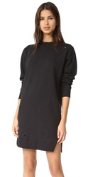 Ksubi Sidewalk Sweatshirt Dress Washed Black