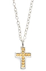 Anna Beck Women's 'Gili' Reversible Mini Cross Necklace Gold Silver