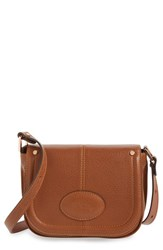 Longchamp 'Small Mystery' Leather Crossbody Bag Brown Cognac