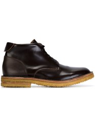 Buttero Lace Up Boots Brown