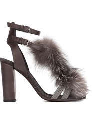 Brunello Cucinelli Pom Pom Strappy Sandals