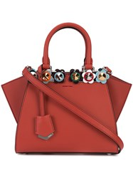 Fendi Studded Mini 3Jours Tote Women Leather One Size Red