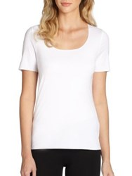 Wolford Pure Tee Geradine Rosepowder White Black Brilliant