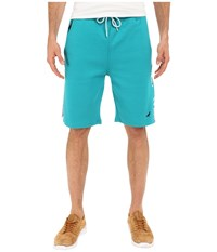Staple Volley Solid Sweatshorts Teal Men's Shorts Blue