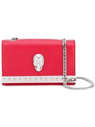 Philipp Plein Indra Shoulder Bag Women Calf Leather Polyester One Size Red
