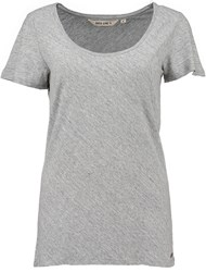 Garcia Long Cotton T Shirt Grey