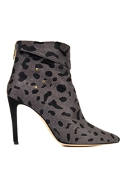 Jerome Dreyfuss Suzanne Leopard Calf Hair Ankle Boots