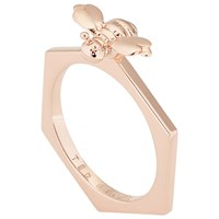 Ted Baker Beelee Bumble Bee Hexagonal Ring Rose Gold