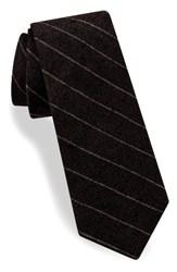 Ted Baker Men's London Stripe Silk And Cotton Skinny Tie