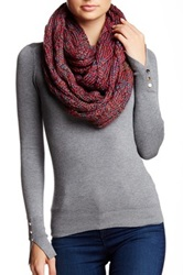 Michael Stars Cable Knit Infinity Scarf Red