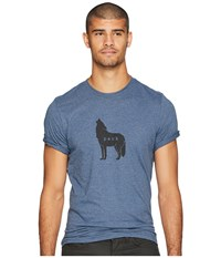 Prana Wolf Pack Journeyman Tee Denim Heather T Shirt Blue