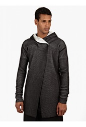 Rick Owens Black Knitted Wrap Coat