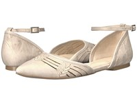 Isola Cellino Light Grey Luggage Euforia Cow Quilin Women's Flat Shoes White