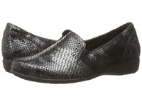 Aravon Adalyn Ar Grey Reptile Print Women's Slip On Shoes Gray