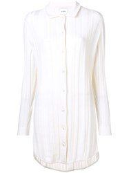 Barrie Cashmere Knitted Shirt Dress White