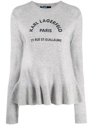 Karl Lagerfeld Address Logo Jumper Grey
