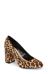 Bella Vita Women's 'Nara' Block Heel Pump Leopard Pony Leather