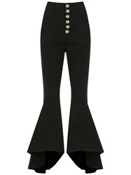 Olympiah Lima Flared Trousers Black