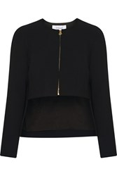 10 Crosby By Derek Lam Cropped Crepe Jacket Black