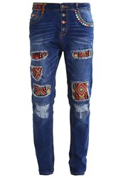 Desigual Exotic Relaxed Fit Jeans Blue Denim
