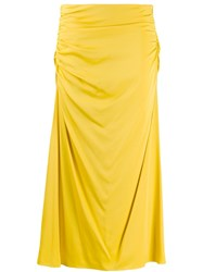 Theory Twisted Draped Skirt Yellow