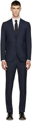 Tiger Of Sweden Blue Wool Nedvin Suit