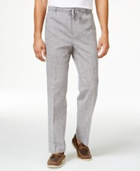 Tasso Elba Men's Island End On End Drawstring Pants Only At Macy's Grey