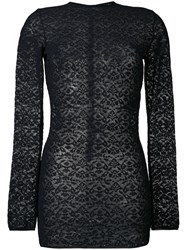 Stella Mccartney Lace Crew Neck Jumper Blue