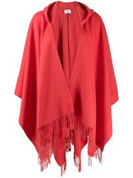 Snobby Sheep Fringed Hooded Cardigan Orange